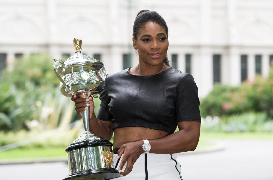 """Serena Williams jau 19-ą kartą tapo """"Didžiojo kirčio"""" varžybų čempione"""