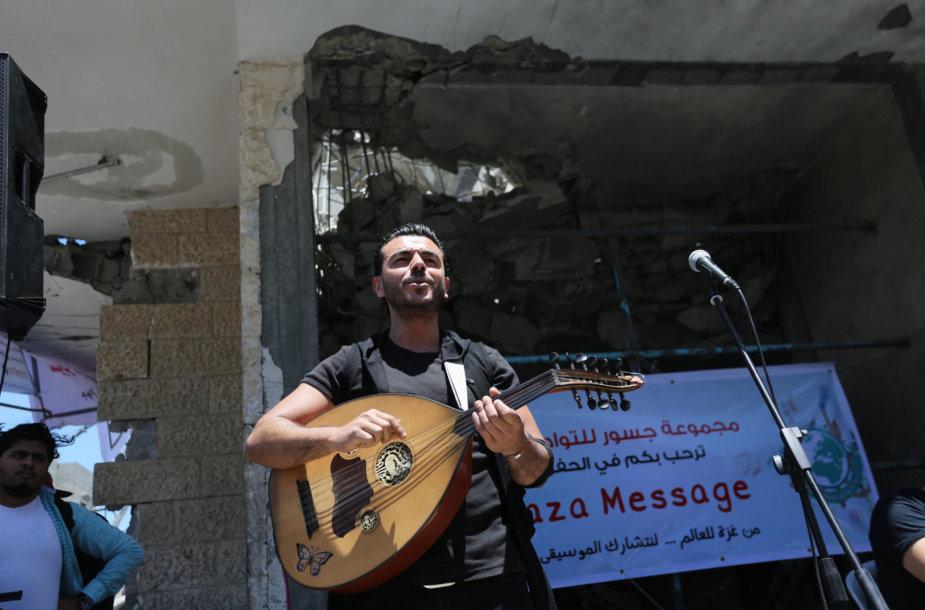 """Gazos Ruožo dainininkai protestuoja prieš """"Euroviziją"""" Izraelyje"""