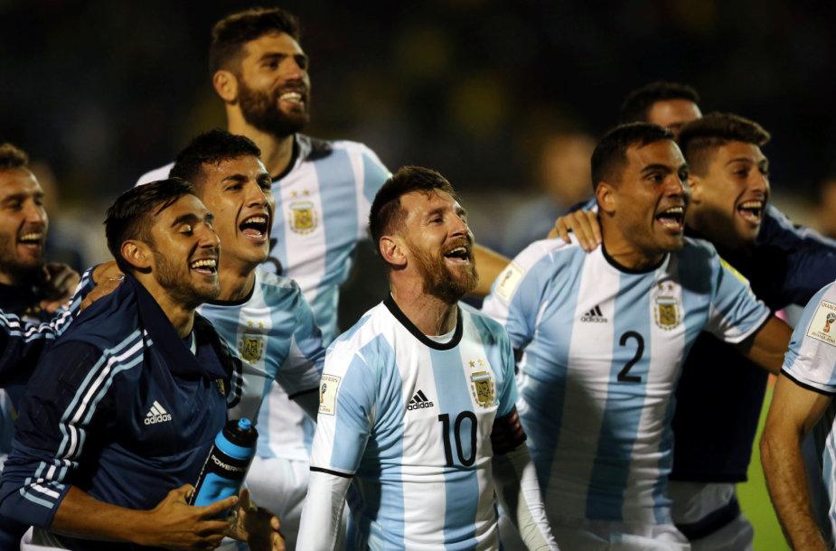 Lionelis Messi išgelbėjo Argentiną