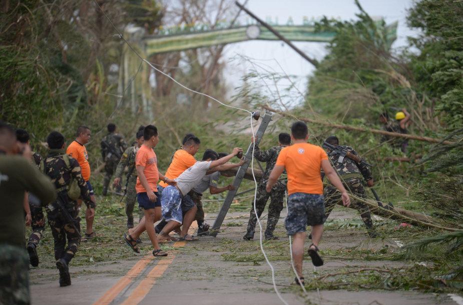 Taifūno Mangkhut padariniai