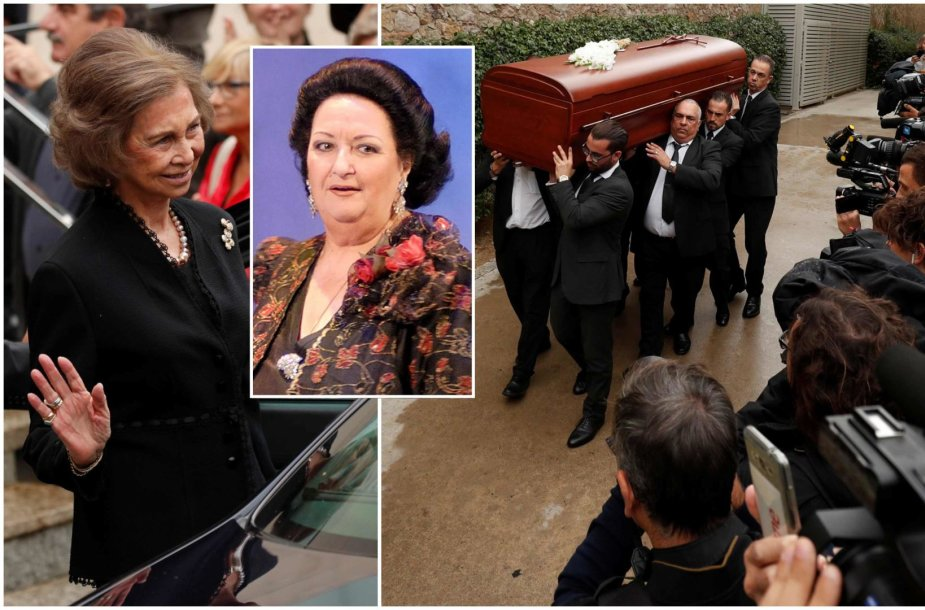 Montserrat Caballe laidotuvės Barselonoje
