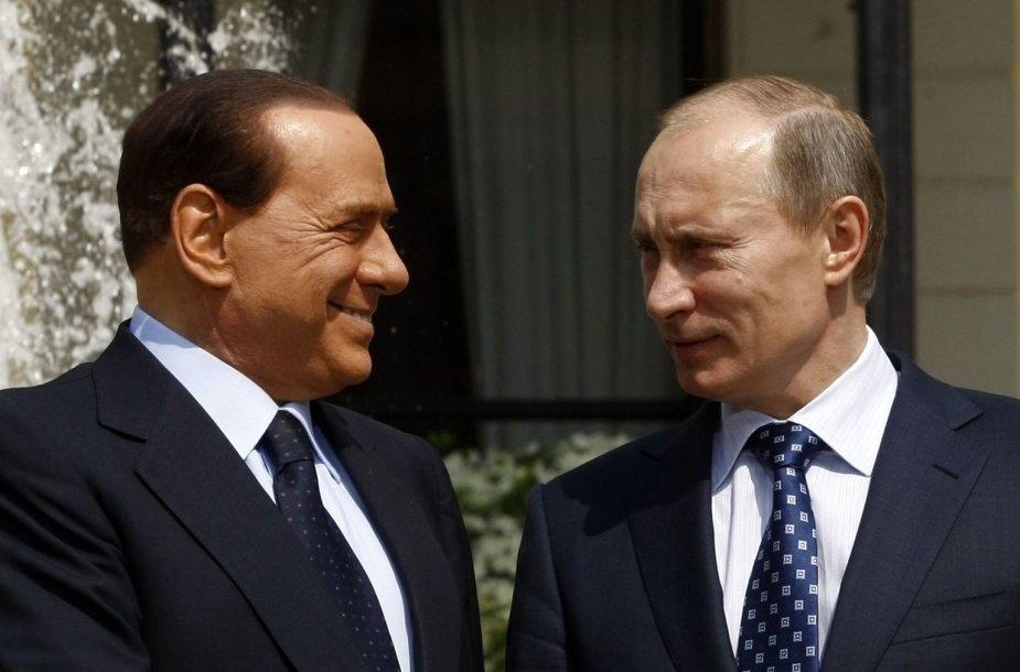 Silvio Berlusconi ir Vladimiras Putinas