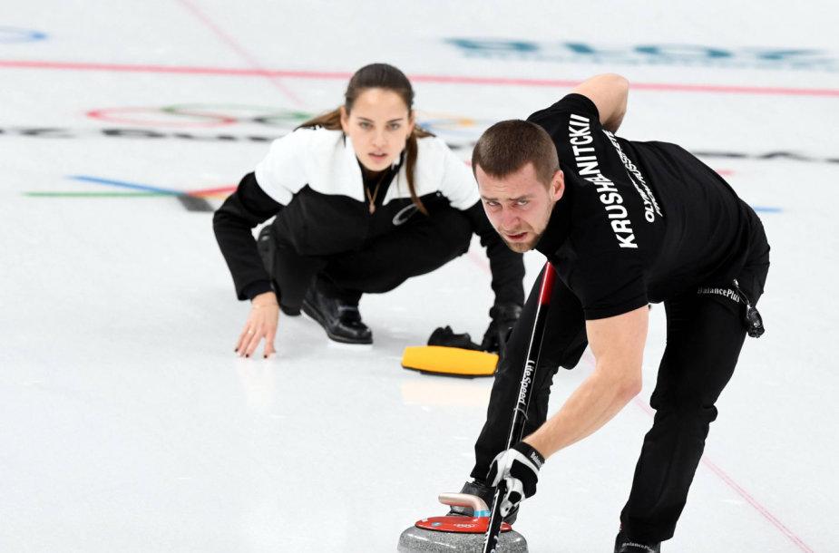 A.Krušelnickis įtariamas meldoniumo vartojimu ir gali netekti olimpinio bronzos medalio, kurį Pjongčange laimėjo su savo žmona A.Bryzgaloba kerlingo varžybose.