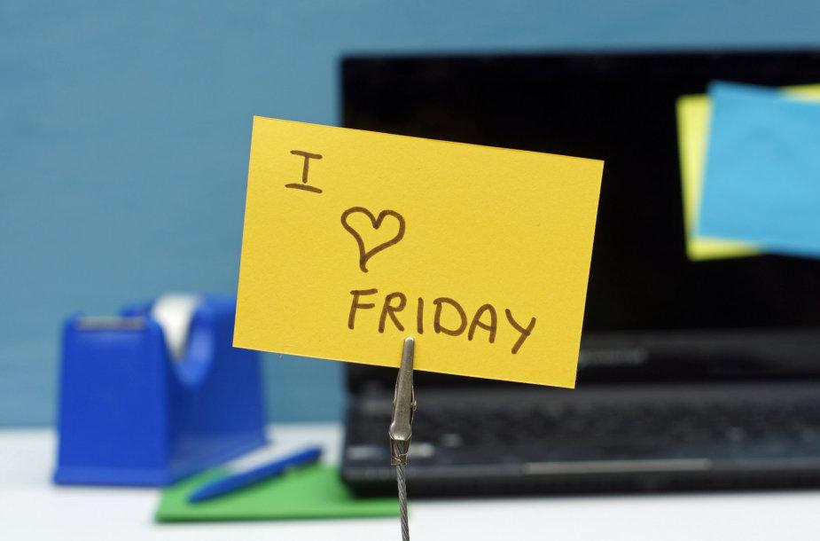 Myliu penktadienį