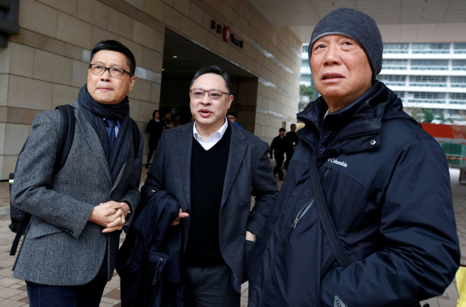 Chan Kin-manas, Benny Tai and Chu Yiu-mingas