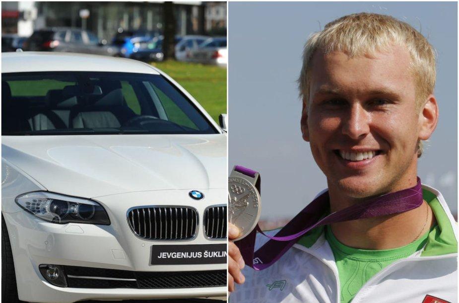 Jevgenijus Šuklinas gali prarasti BMW, kuris jam buvo padovanotas už pasiekimą per 2012 metų Londono olimpines žaidynes.