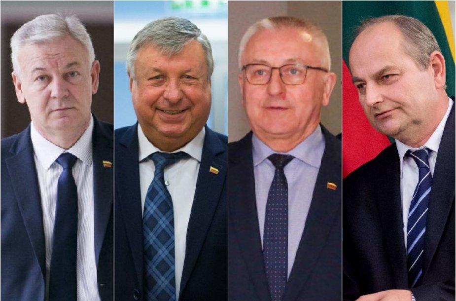 Ričardas Juška, Jonas Liesys, Jonas Varkalys ir Juozas Baublys
