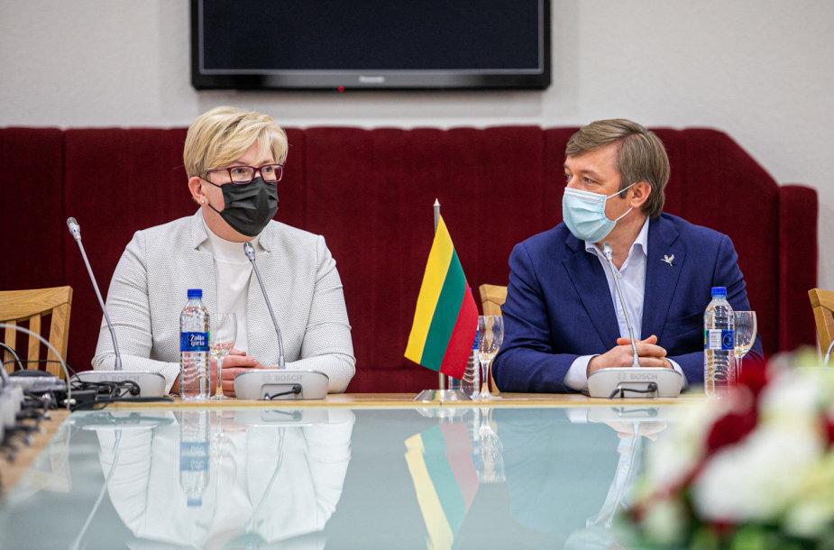 Ingrida Šimonytė ir Ramūnas Karbauskis