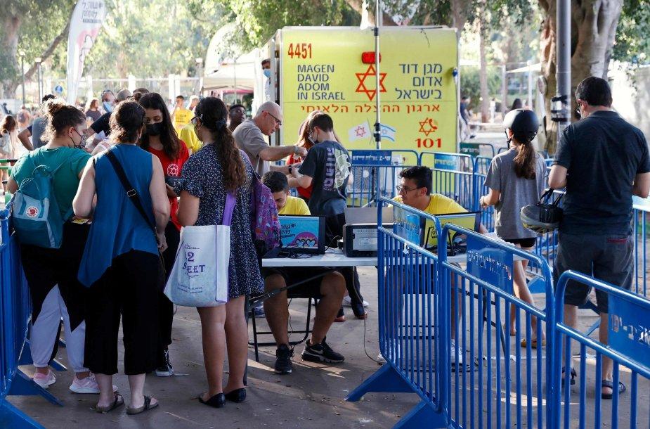 Izraelyje vėl daugėja užsikrėtimų koronavirusu