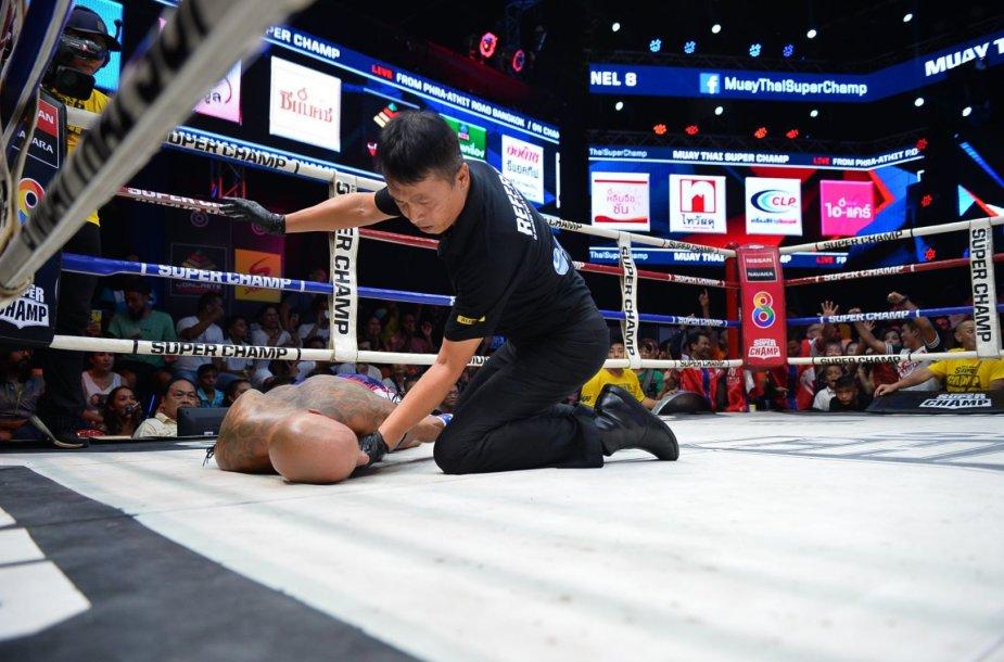 Tailando ringe Sigitas Gaižauskas patyrė gilų nokautą