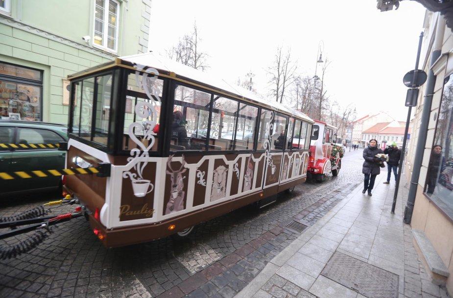 Kalėdų traukinukas Vilniuje