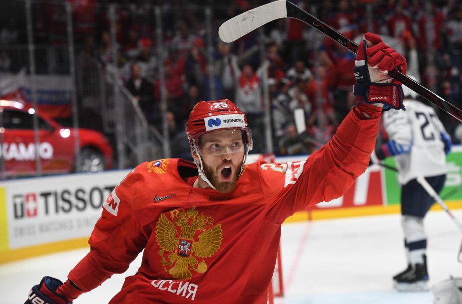 Rusijos ledo ritulio rinktinė pateko į pusfinalį