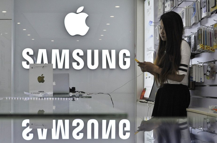 """""""Samsung"""" ir """"Apple"""" prekės ženklai"""