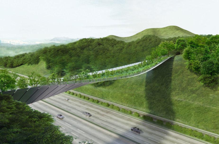 Lietuvos architektų ekologiško pėsčiųjų tilto projektas