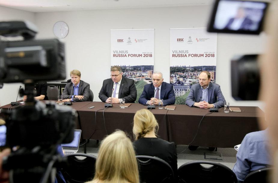 Vladimiras Ašurkovas, Linas Linkevičius, Garis Kasparovas, Vladimiras Kara-Murza jaunesnysis