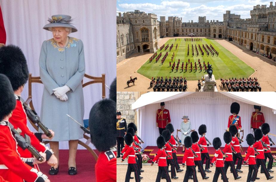 Vėliavos pagerbimo paradu pažymėtas karalienės Elizabeth II 95-asis gimtadienis