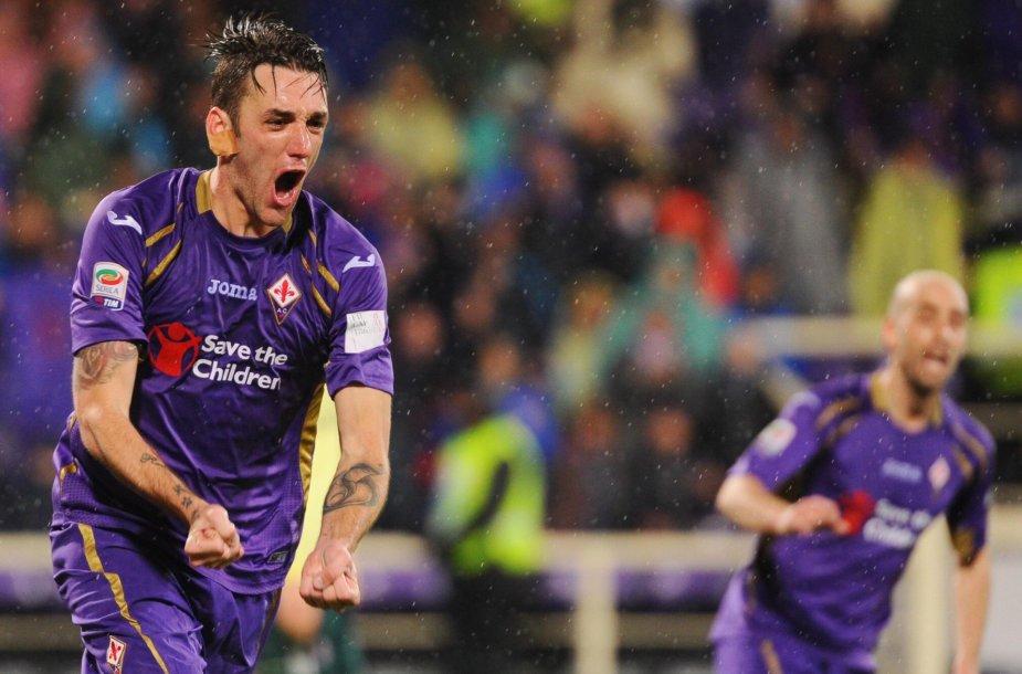 """""""Fiorentina"""" žaidėjas Gonzalo Rodriguezas"""