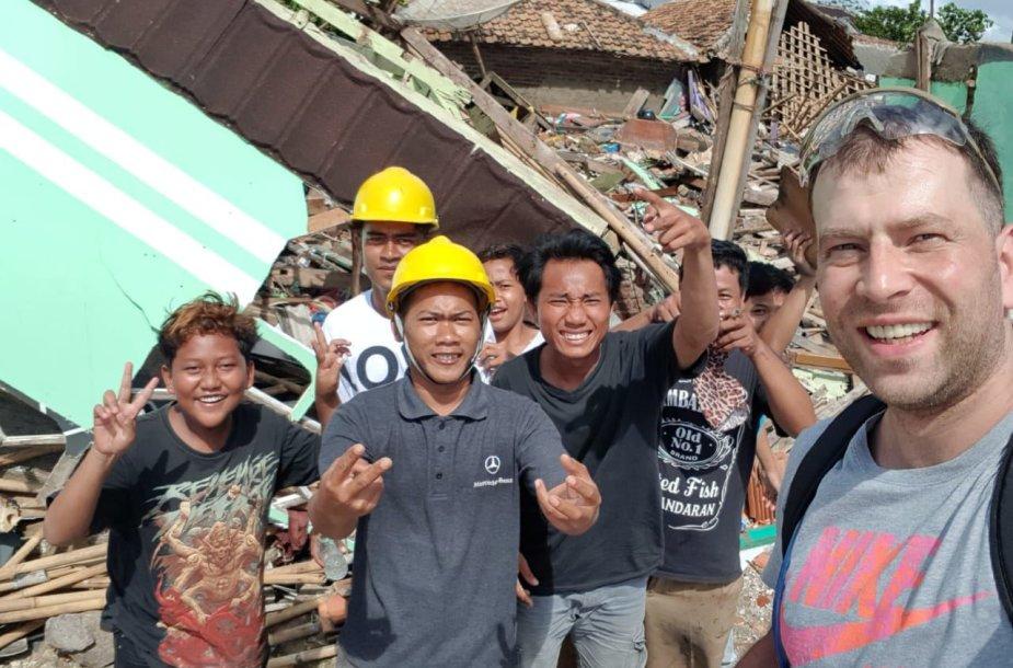 Edgaras cunamio nuniokota vietovėje