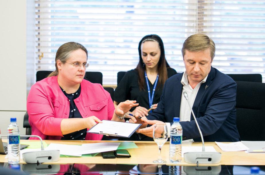 Agnė Širinskienė ir Ramūnas Karbauskis