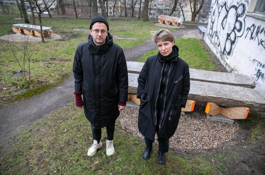 Architektai Ona Lozuraitytė ir Petras Išora