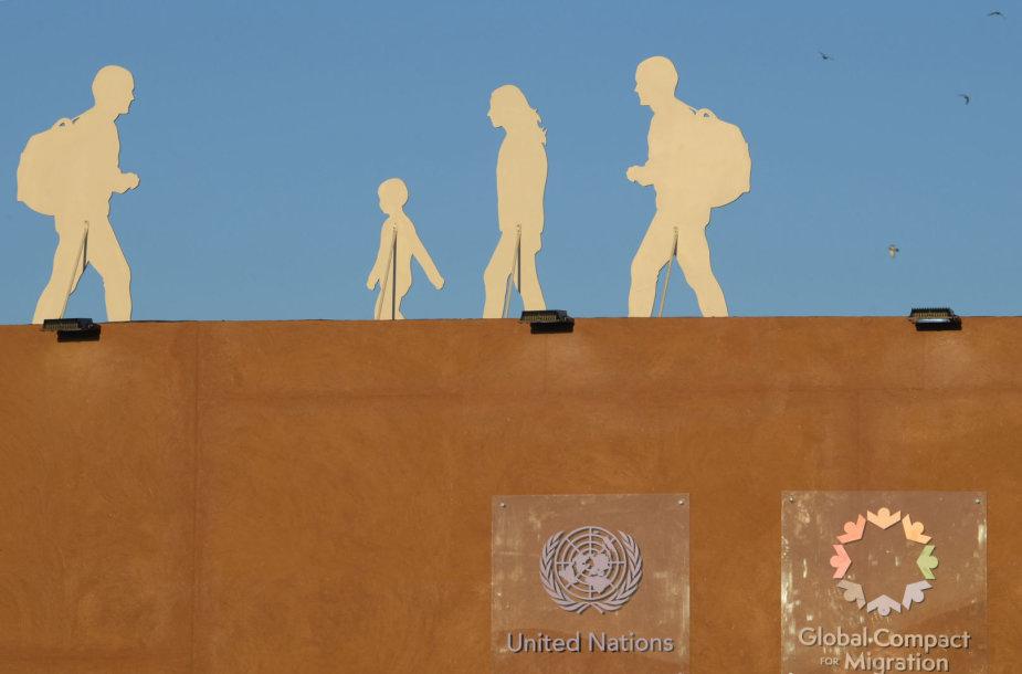 Dėl JT migracijos pakto kyla daug aistrų