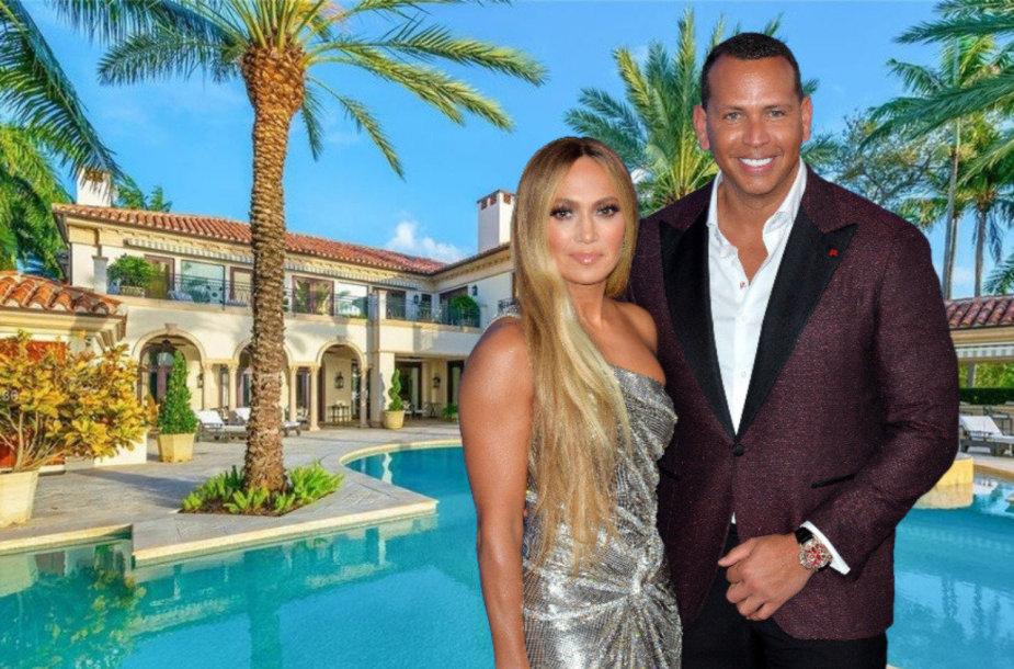 Naujas Jennifer Lopez ir Alexo Rodriguezo pirkinys – vila Majamyje