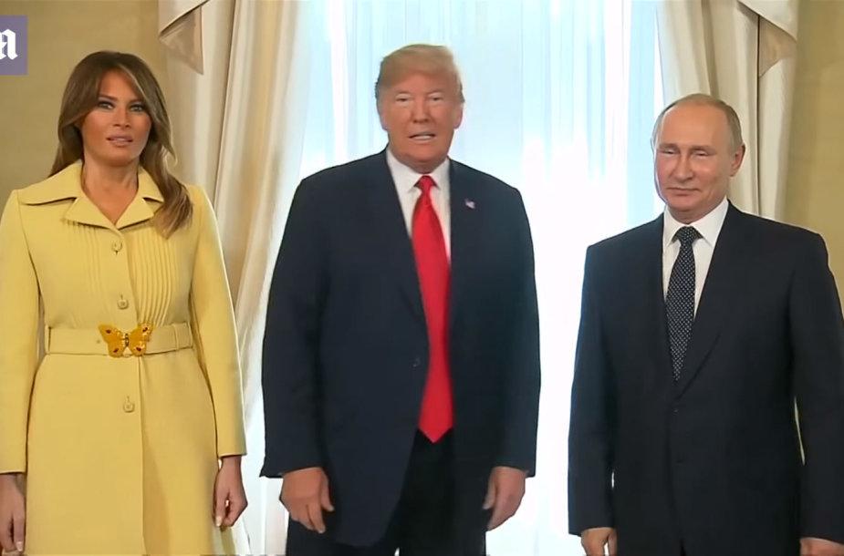 Melania Trump, Donaldas Trumpas ir Vladimiras Putinas