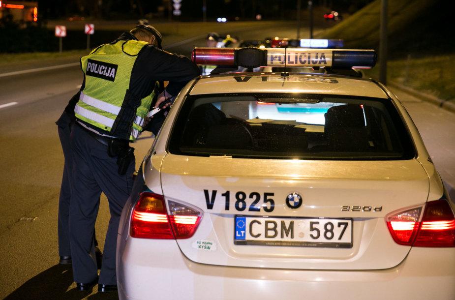 Naktinis policijos reidas Vilniuje