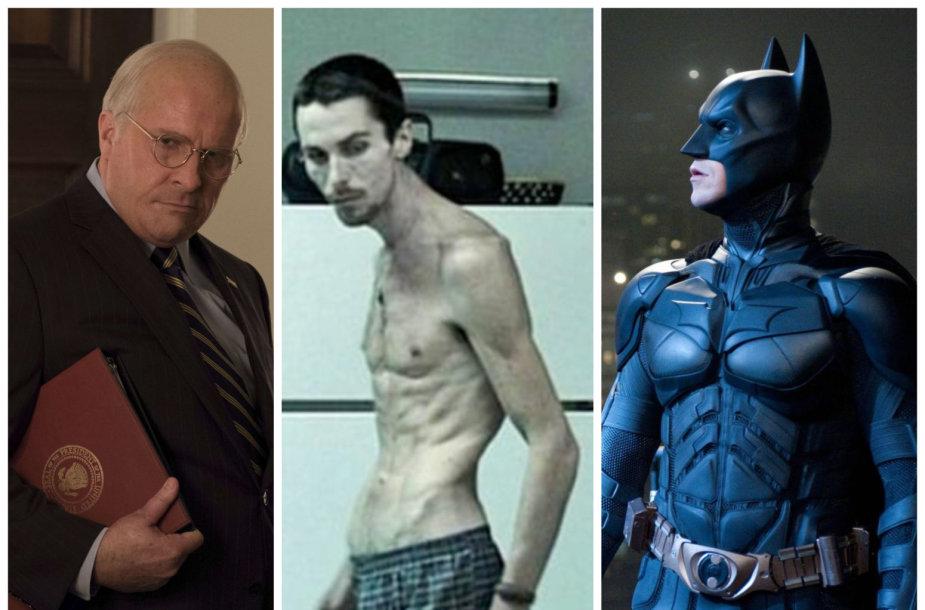 Christiano Bale'o drastiškos kūno transformacijos dėl vaidmenų