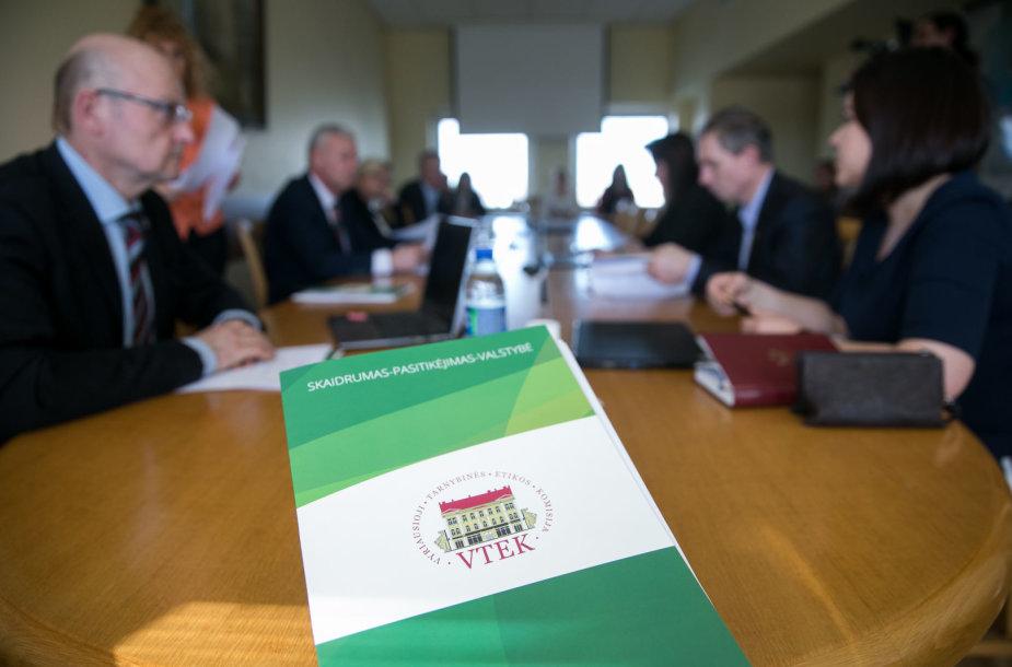 Seimo Valstybės valdymo ir savivaldybių komitetas dėl laikinojo VTEK vadovo paskyrimo aplinkybių