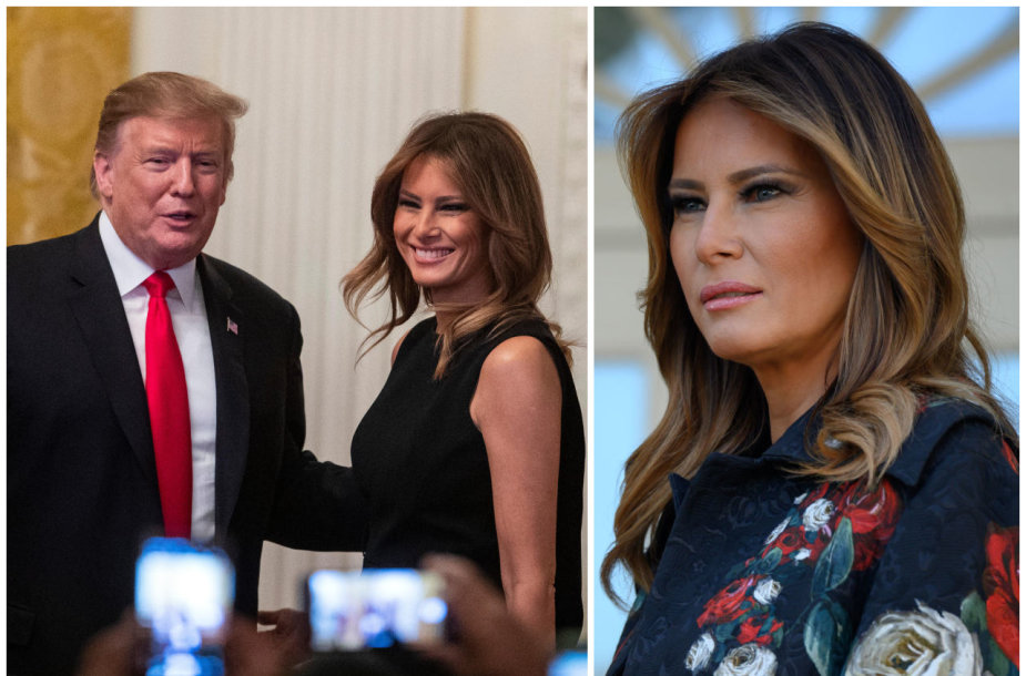 JAV prezidentas Donaldas Trumpas ir pirmoji JAV ponia Melania Trump