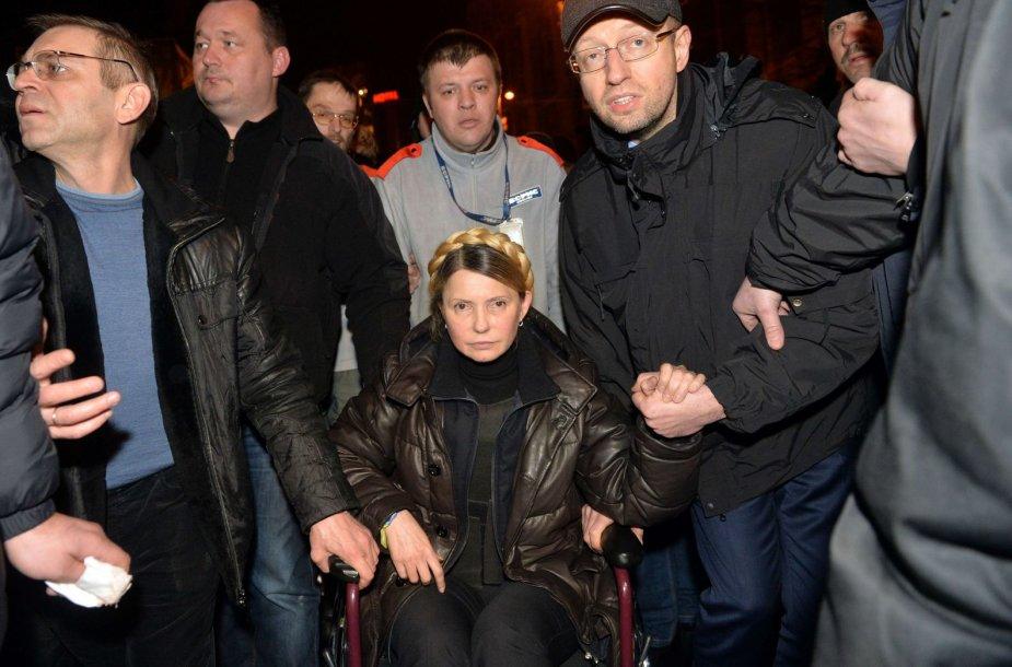 Julija Tymošenko ir Arsenijus Jaceniukas