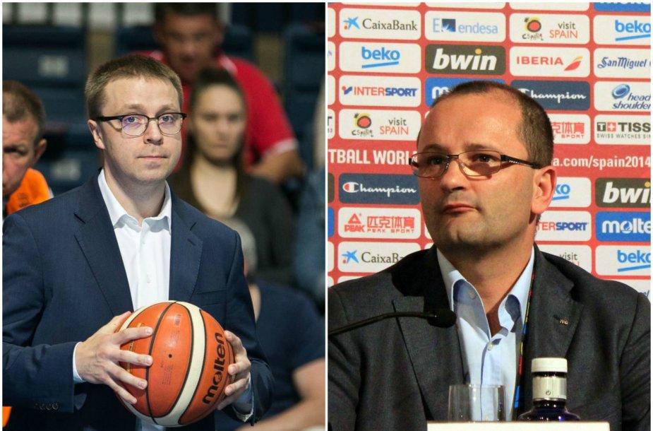 Paulius Motiejūnas ir Patrickas Baumannas