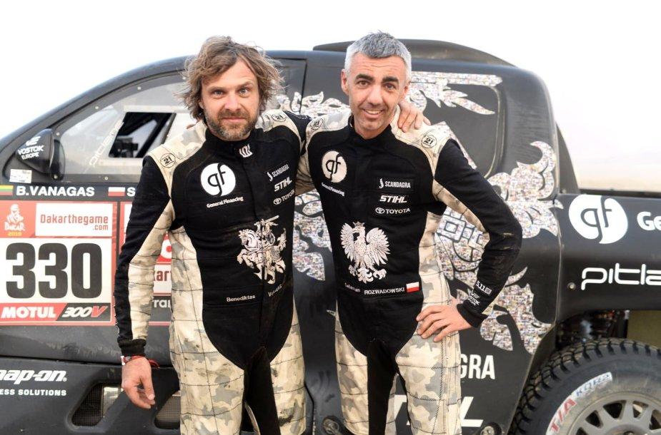 Benediktas Vanagas ir Sebastianas Rozwadowskis
