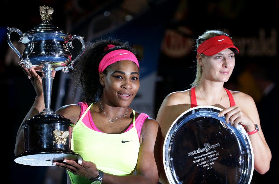 Serena Williams ir Marija Šarapova