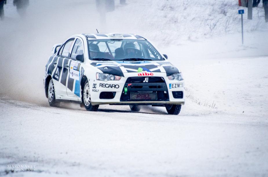 """Dominykas Butvilas """"Halls Winter Rally"""" varžybose"""