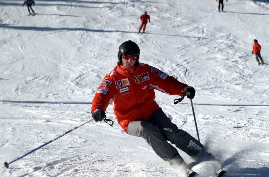 Michaelis Schumacheris Italijos kurorte 2005-ųjų sausį