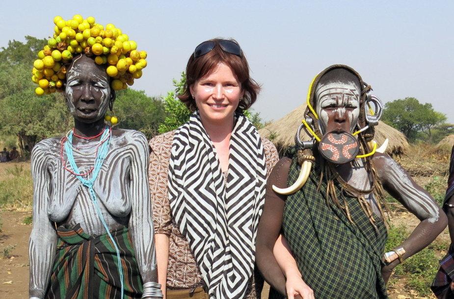 Gabrielė Štaraitė su egzotiškais vienos genties atstovais