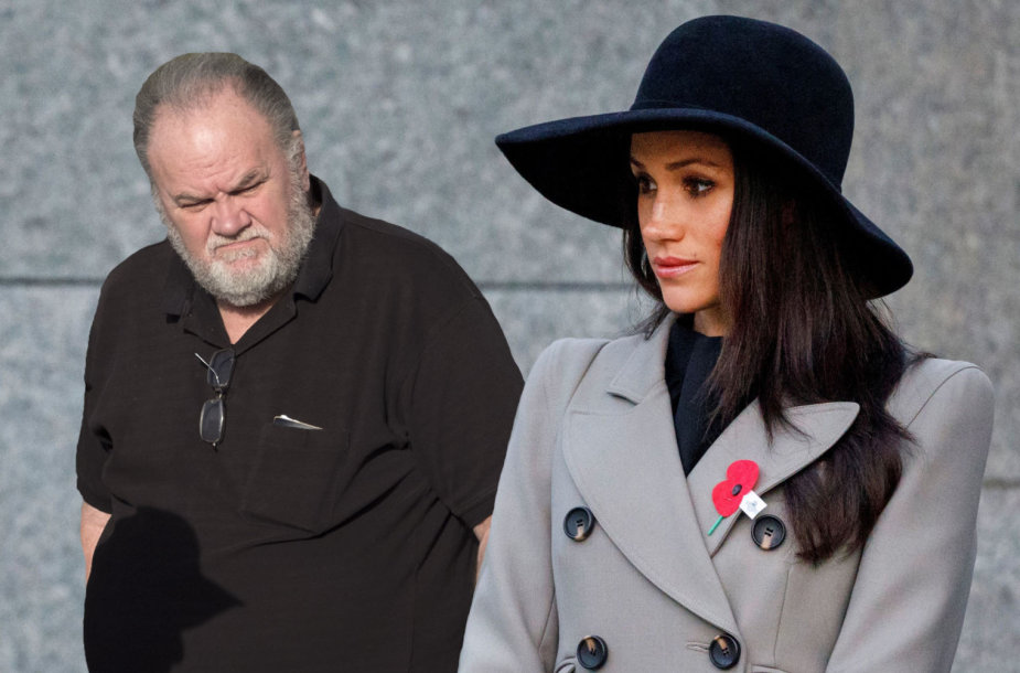Meghan Markle ir jos tėvas Thomas Markle'as