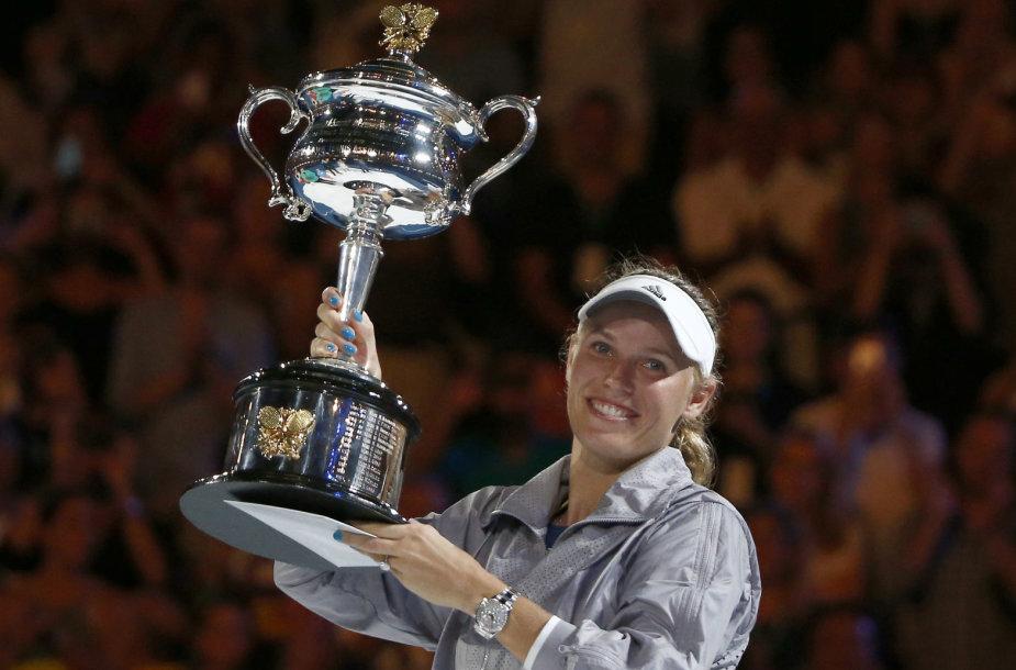 Įspūdingame moterų finale dvigubas Carolinos Wozniacki triumfas
