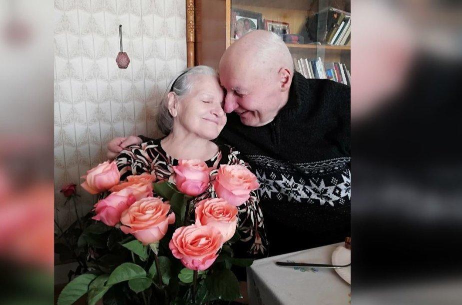 Marijona ir Alfonsas Jucevičiai deimantinių vestuvių dieną