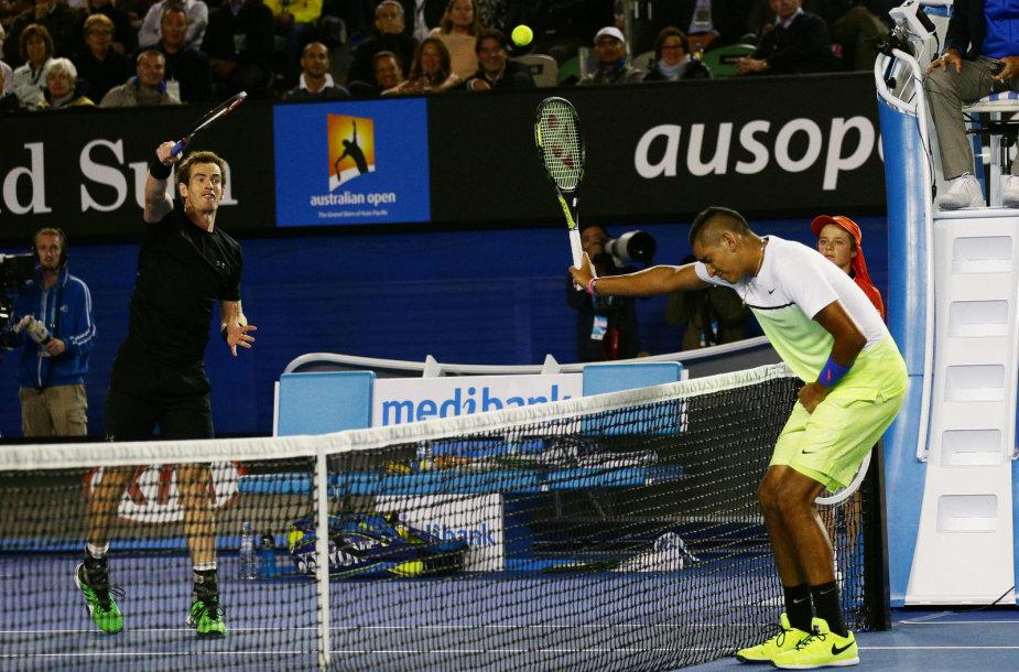 Andy Murray ir Nickas Kyrgiosas