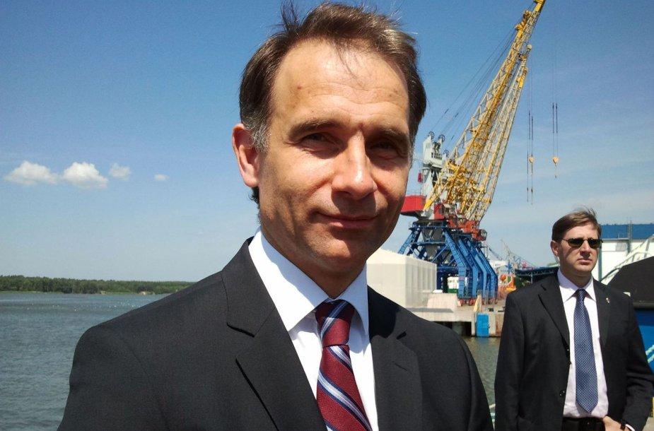 """AB """"Klaipėdos nafta"""" generalinis direktorius Rokas Masiulis"""