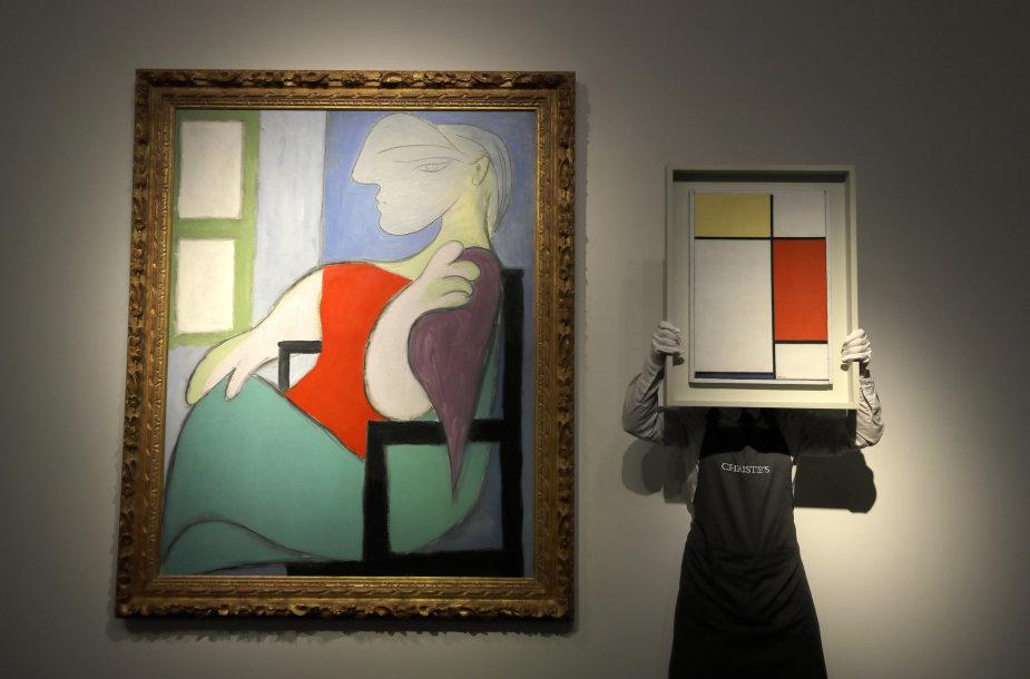 """Pablo Picasso meilužės ir mūzos Marie-Therese Walter portretas """"Moteris, sėdinti prie lango"""""""