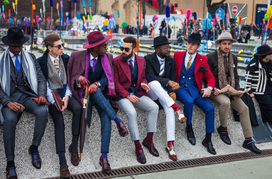 "Gatvės stilius: ""Pitti Uomo"" 2017 m."