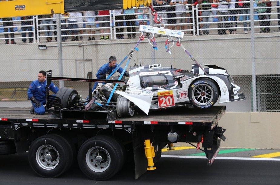 "Marko  Webberio ""Porsche 919 Hybrid"" po avarijos"