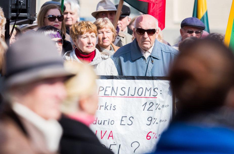 Pensininkams atstovaujančių organizacijų mitingas