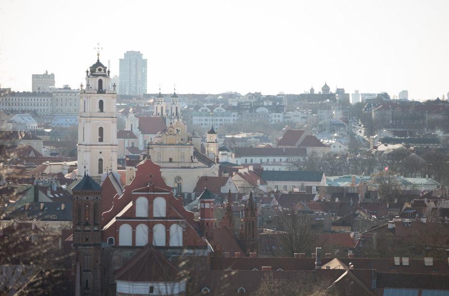Vilniaus panorama nuo Altanos kalno