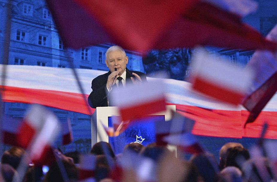PiS lyderis Jaroslawas Kaczynskis