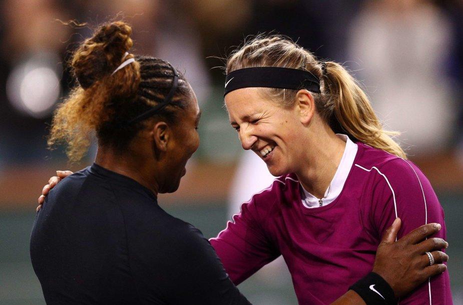 Serena Williams ir Viktoria Azarenka
